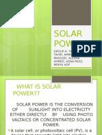 Solarpower- The Future
