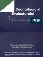 Codul Deontologic Al Evaluatorului