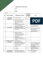 Checklist - Observasi Kelas