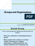 Ch 7 Social Groups and Organizations