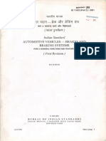 IS 11852 -Automotive Vehicles - Brakes and Braking System - Part 2 - Rev 01