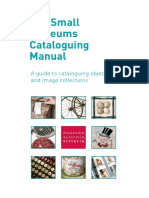 Small Museums Cataloguing Manual 4th