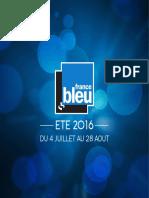FRANCE BLEU - Dossier de presse Eté 2016
