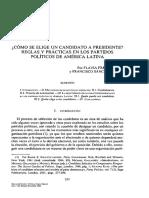 Cómo Se Elige Un Candidato a Presidente. Reglas y Prácticas en Los Partidos Políticos de AL (Flavia Freidenberg & Francisco Sánchez López)