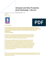 Role of Advertisement and Sales Promotion in Pharmaceutical Marketing