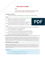 Forming Relative Clauses