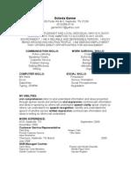Jobswire.com Resume of garner6417