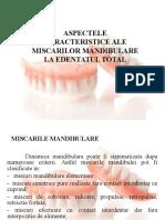 Aspectele miscarilor mandibulare