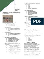 habitat and niche study guide