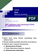 Dr.fahmi,Spog - Haid