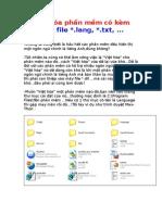 Việt hóa phần mềm có kèm theo file  lang,  txt