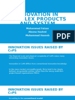 Innovation in Complex Products and System