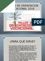 Taller de Orientacion Vocacional 2016 Power Explicativo