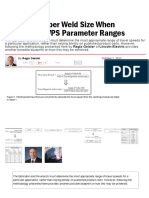 Focus on Proper Weld Size When Developing WPS Parameter Ranges - Fabricating and Metalworking