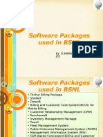 Software Packages Used in BSNL