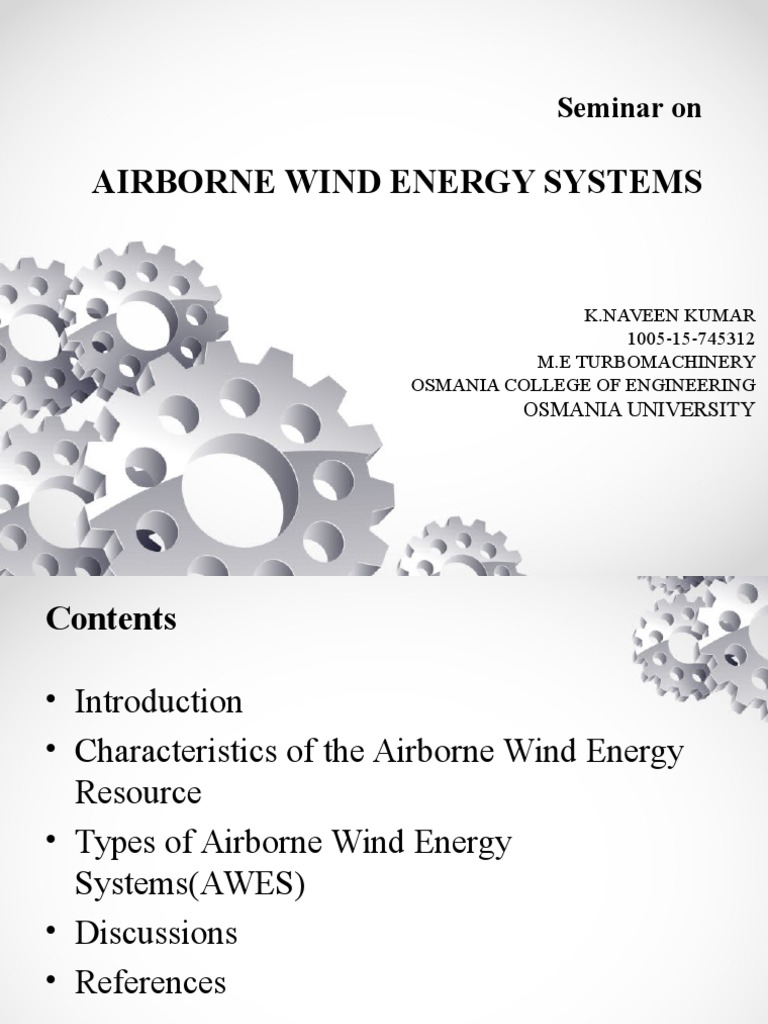 Airborne Wind Energy Systems: Seminar on
