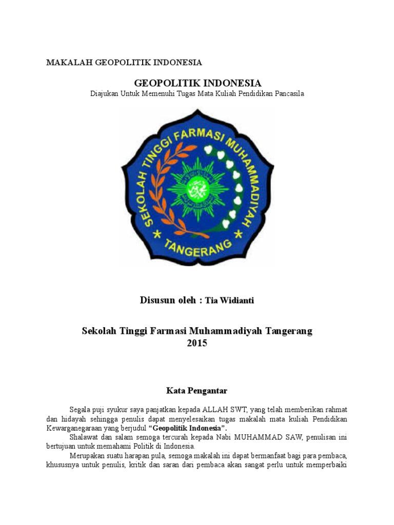 Makalah Geopolitik Indonesia