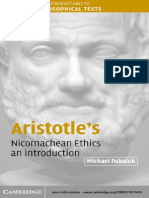 a commentary on aristotles nicomachean ethics and the similarities to socrates Aristotle had a much more specific, systematic discussion of ethics in his work entitled the nicomachean ethics socrates tried, most of the time in vain.