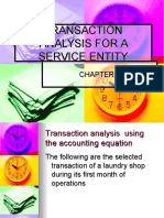 Transaction Analysis for a Service Entity