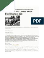 lesson plan on birmingham jail
