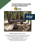 sherwood forest firewise community hazard assessment final 160512