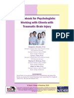 Working With Clients With Traumatic Brain Injury
