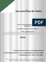 Ética e Para Uma Ética Do Teatro