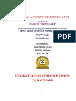 Training and Development Of