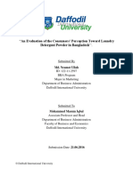 """Internship Report on """"An Evaluation of the Consumers' Perception Toward Laundry Detergent Powder in Bangladesh''."""