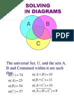 Solving Venn Diagrams