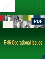 08 E85 Operational Issues