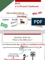 Simple Present vs Present Continuous Presentation