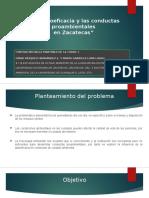 Presentación Para La UAM - La Autoeficacia y Las Conductas Proambientales en Zacatecas