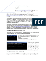 Week 8-MySQL Database and Java Programs