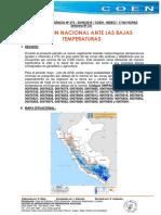 Situacion Nacional Ante Las Bajas Temperaturas