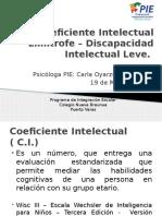 Coeficiente Intelectual Limítrofe – Discapacidad Intelectual Leve 2015
