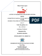 Study on Marketing Strategies of Puma Shoes