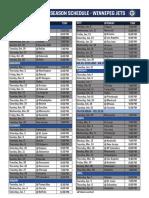 2016-17 Jets Regular Season Schedule