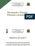 1Aula 9 - Tratamento de Agua - Decantacao Filtracao Desinfeccao