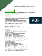 Syllabus for Advocate Enrolment Examination 2012 in Bangladesh
