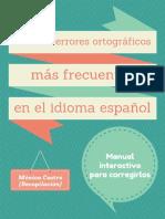 Los Cien Errores de Ortografia - Monica Castro Plaza