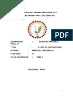 Monografia de Derecho Procesal Penal II