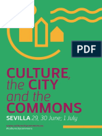 Culture, the City and the Commons program