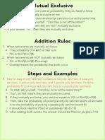 quarter 4 additon rules of probability