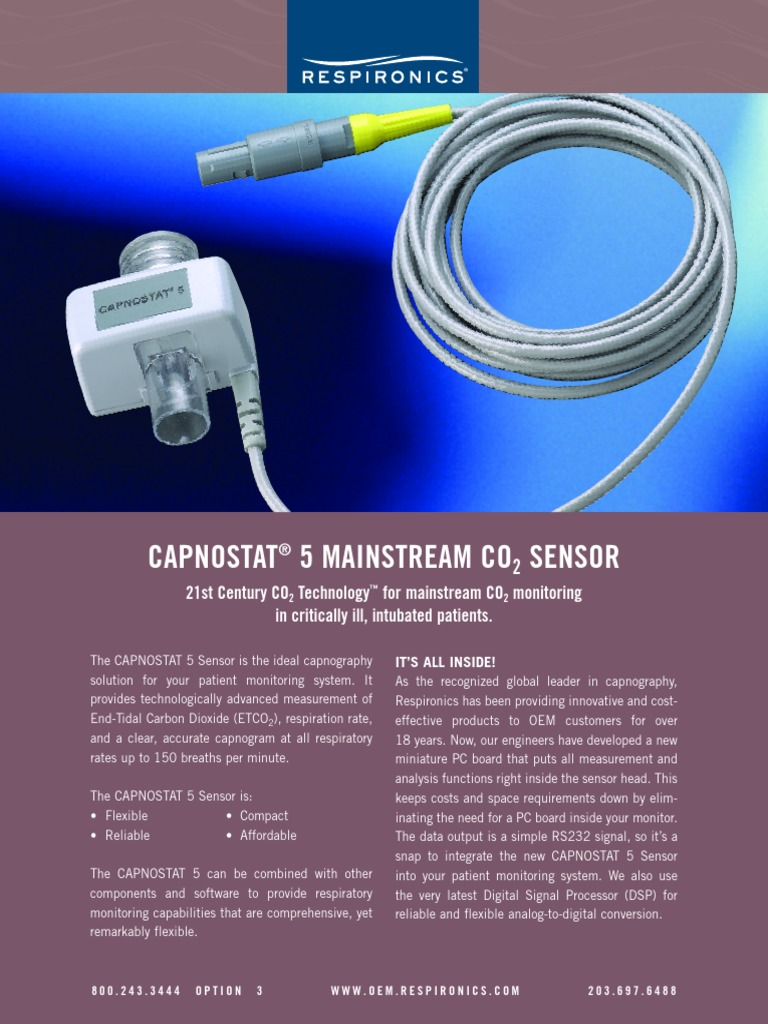 01 1742 4101194 Capnostat Monitoring Medicine Carbon Dioxide Elec 243 Electronic Measurement Systems