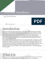 barnes 815 personal manifesto