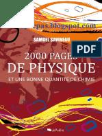 2000 Pages de Physique Et Une Bonne Quantite de Chimie