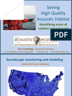 Saving High-quality Acoustic Habitat