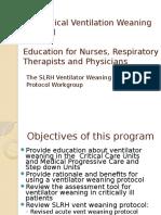 SLR Ventilator Weaning Education Presentation
