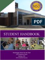MSD Student Handbook - Updated 2016